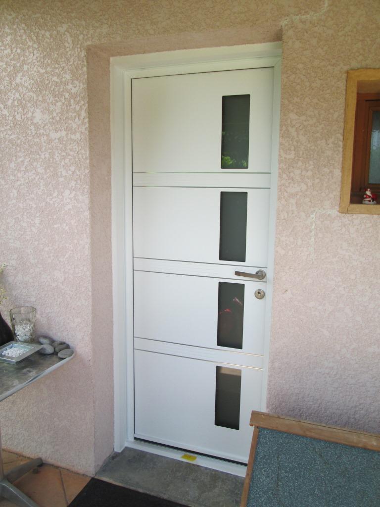 Couleur Porte Interieur Blanc Gris porte d'entrée aluminium - energie fenetre
