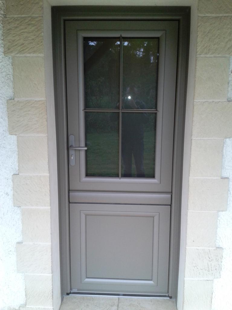 porte bronze satine porte dentre ouverte couleur taupe - Couleur Porte D Entree